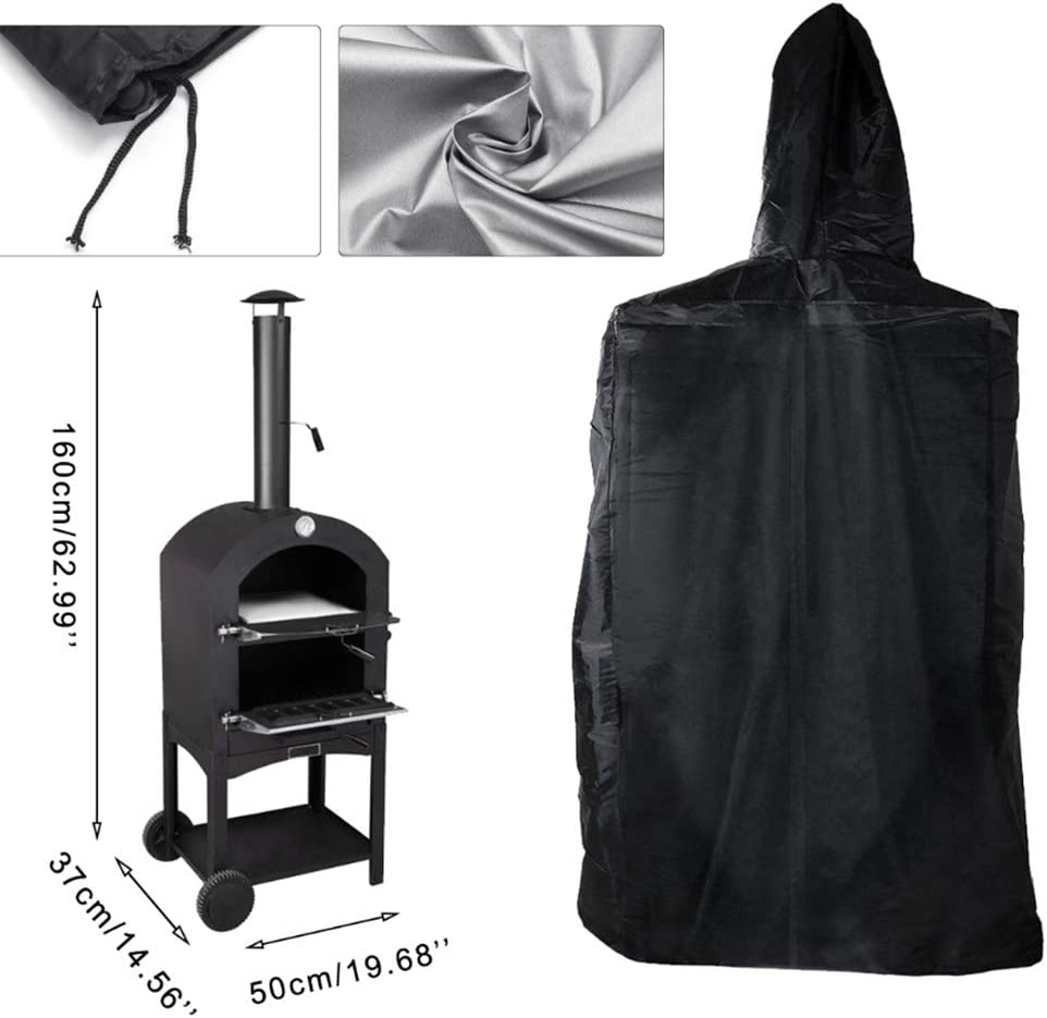 Eihan Chimney Charcoal Bread Housse de protection imperméable pour barbecue et pizza 165 x 65 x 45 cm. 65 X 54 X 122 Cm.