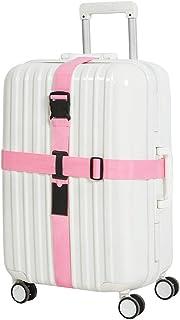 Fashion Adjustable ID Slot Luggage Strap Wheeled Suitcase Belt - Identify Travel Weekend Trolley Case Belts Secure Buckle Closure Elastic BESBOMIG