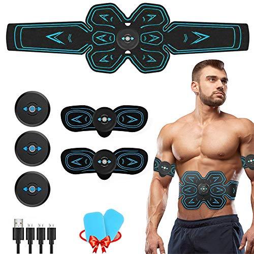 Moonssy Bauchmuskeltrainer Elektrisch AILIDA Elektrostimulator Muskel Massagegerät EMS-Training Elektrostimulation Bauchmuskeln Fitness Machine für Männer Frauen Geschenk