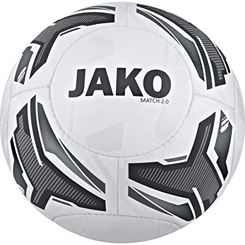 JAKO Match 2.0 Trainingsball, Weiß, 3