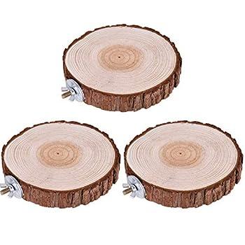 3 pièces Perroquet Stand Forme Jouet Perroquet Plate Hamsters Chinchilla Plateformeds Jouet Parrot Plate-Forme Jouets Pour oiseau comme perroquet boogie, oiseau qui mord une planche de liège teck