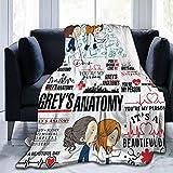 Grey's Anatomy Decke Flanell-Fleece-Überwurf, weicher und