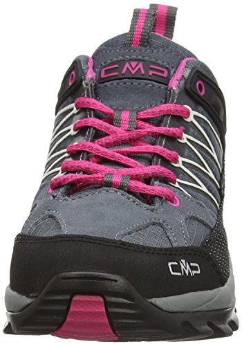 CMP - F.lli Campagnolo CMP Rigel 3Q54456 Damen Low Trekking Schuhe WP, grau (grey-fuxia-ice 103Q), 37 EU