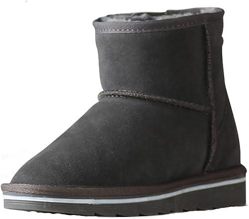 SYYAN mujeres Invierno Lana Mantener Caliente Hecho a Mano Nieve Disparo Mini botas (Pequeñas yardas)
