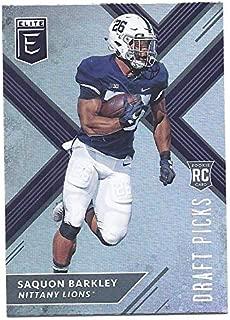 SAQUON BARKLEY 2018 Panini Elite Draft Picks #105 (dark jersey) Rookie Card RC Penn State Nittany Lions New York Giants Football
