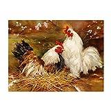 Pintura por números,Peach Blossom Animal Chicken Pintura por Números para Adultos Bricolaje Lienzo Preimpreso Pintura al óleo Arte Decoración del Hogar Reducir la Ansiedad,40cmX50cm(sin marco).