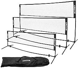 Albott Badminton Net, Portable Outdoor 10FT Tennis Net Set - Sports Net for Kids Volleyball, Pickleball, Beach Ball Adjustable Net with Poles for Backyards, Gym, Driveway