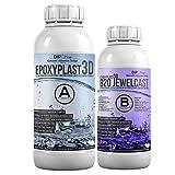 1,5 KG Resina Epoxi EpoxyPlast 3D B20 Jewel Cast para resina artificial, ultra transparente, excelente protección UV, joyas, resina de fundición, vidrio transparente, Claro como un diamante