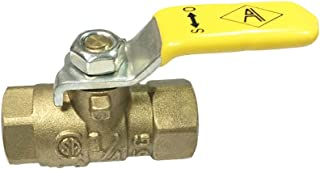 NIGO 240SS Series Forged Brass Mini Gas Ball Valve, CSA Certified, Lever Handle, NPT Female, Standard Port 600WOG (1/4