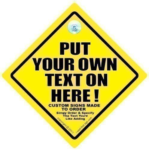 Personalisiert Auto Schild,personalisiert Baby On Board Zeichen,Benutzerdefiniertes Autoschild,Individuelle Zeichen,Add Dein Eigener Maßgefertigt Text an erstellen sie ihr eigenes nachricht,Baby A