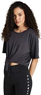 Rockwear Activewear Women's Samba Tie Front Tee from Size 4-18 for T-Shirt Tops