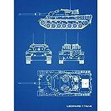 Leopard 1 Main Battle Tank Military Blueprint Plan Large