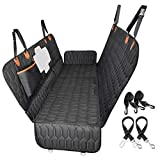 OMORC Dog Car Seat Cover Dog Hammock Convertible Heavy Duty Nonslip with Mesh Window Side Flaps for Back Seat Protection Durable for Car, Truck, SUV