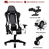 PC Gaming Chair Big and Tall Ergonomic High Back Office Computer Chair PU Leather Racing Chair, 180...