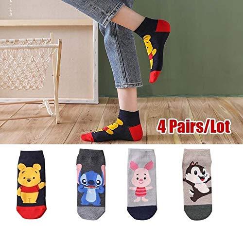 5 par/Lote Calcetines de Gato de Dibujos Animados de Verano Calcetines de Animales Bonitos para Mujer Calcetines Divertidos de Tobillo Calcetines Invisibles de algodón para Mujer-SMT-222-19
