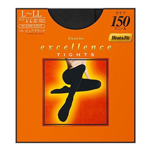 カネボウ化粧品 タイツ 150デニール L-LLピュアブラック