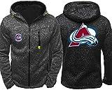 Sudadera unisex, Capucha de la chaqueta de los hombres - Los aficionados de hockey sobre el desgaste de Colorado Entrenamiento de Avalanchas de primavera / verano de cremallera Cardigan Prendas de dep