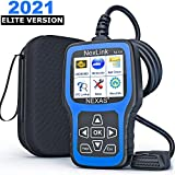 NEXAS NL101 OBD2 Scanner - Check Engine Light Car Code Reader Diagnostic Scan Tool Fault Code Scanner with Battery Test for OBDII Car After 1996 [Upgrade Version], including Black Protective Case