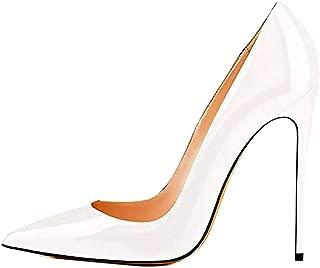 GEEDIAR Women's Stilletos Heels,Women's Shoes Women' High Heel Shoes Multicolor Slip On Concise Pumps