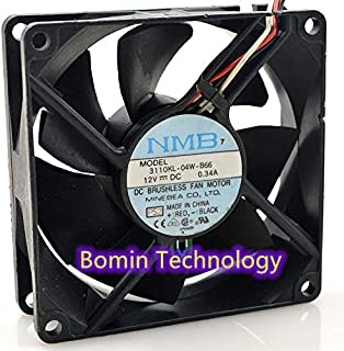 Bomin Technology for NMB 3110KL-04W-B66 12V 0.34A 8CM with Temperature Controlled Cooling Fan