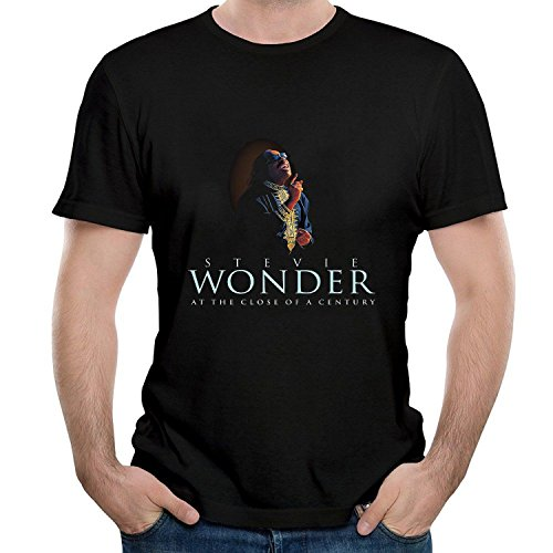 Twenty-nine COME Men's Stevie Come and Wonder at The Close Of Come and a Century T Shirt Black X-Large