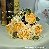 WEFLOWERSPivoine Fleur Table_Simulation décoration Florale Nouvellement marié 11 Pivoine Fleur Table Salon décoration de la Maison Artisanat