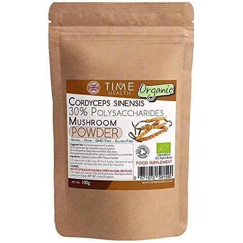 冬虫夏草全有机蘑菇提取物-粉末100g-30%多糖-无添加剂(100g袋)