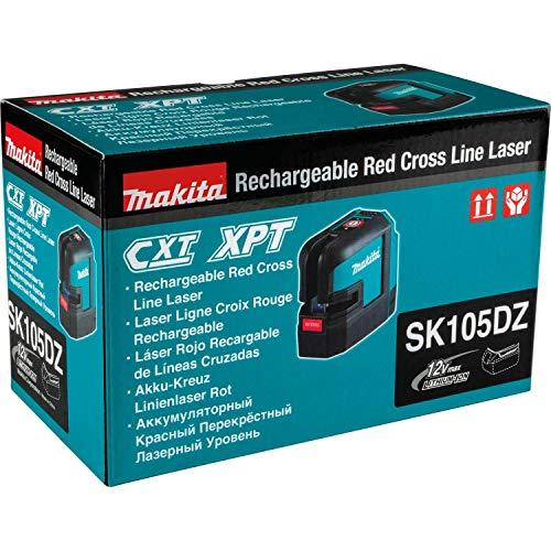 Makita SK105DZ Akku-Kreuz Linienlaser rot, 12 V, Blau, Silber - 8