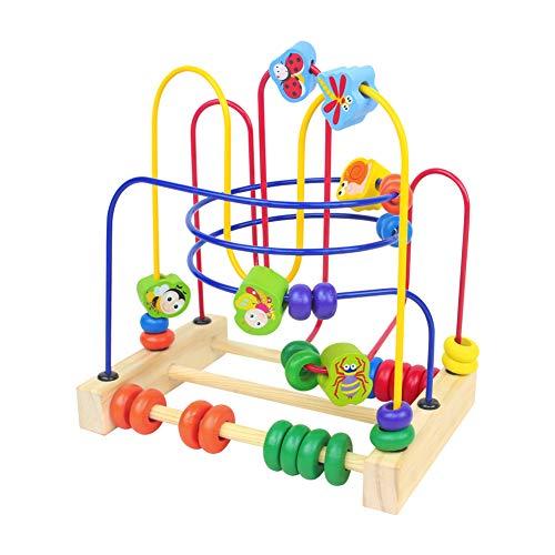 Fajiabao Giochi di Legno Bead Maze Giocattolo Roller Coaster Montessori Insetto Giochi Educativi Matematica per Bambini 3 4 5 Anni