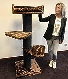 Prodotto di qualità del marchio RHRQuality con tronchetti in sisal da 20cm di diametro e 36kg di peso totale! Questo tiragraffi in formato XXL per gatti di grossa taglia è estremamente resistente e stabile. Il grande albero tiragraffi è un prodotto...