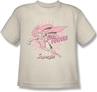 Supergirl - Manga Girl Power Youth corta camiseta en Crema por DC Comics
