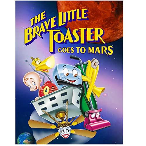 KONGQTE Der tapfere kleine Toaster geht zum Mars (1998) Plakate und Drucke Movie Fashion Trend Schönes Zuhause Art Decor Poster Wanddekor Geschenk -24x32 Zoll No Frame