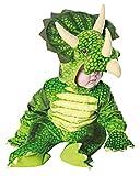 Horror-Shop Grünes Triceratops Dinosaurier Faschingskostüm für Kleinkinder & Babys M