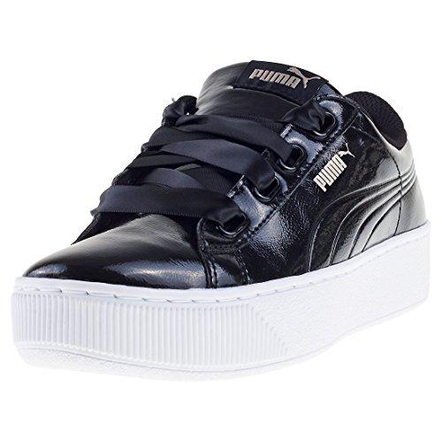 Puma Vikky Platform Ribbon P, Damen Sneaker, Schwarz (PUMA Black-PUMA Black 01), 38 EU (5 UK)