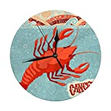 Mesllings Reloj de pared con signo del zodiaco astrológico de 9.8 pulgadas, juego de horóscopo señales, reloj redondo digital