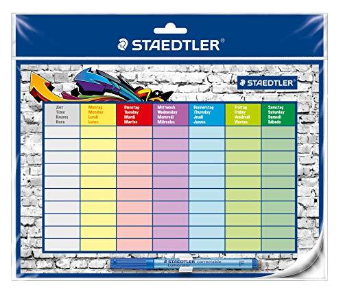 STAEDTLER Lumocolor 641 SP2, Studenplan trocken abwischbar mit correctable, DIN A4 Format