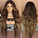 Neuf femmes dégradé Marron Cheveux longs bouclés Perruques Blond Perruque Cheveux...
