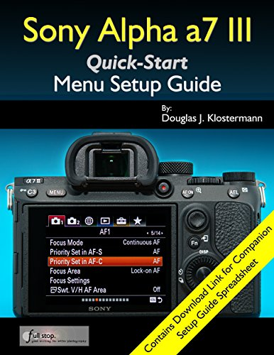 Sony Alpha a7 III Menu Setup Guide (English Edition)