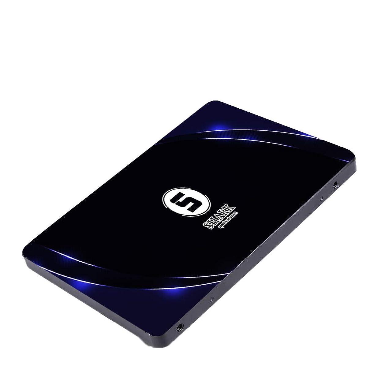 コテージ問い合わせるレモンShark SSD 120GB 内蔵SSD 2.5インチ SATAIII 7MM Height Desktop Laptop Hard Drive (120GB)