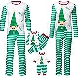 RYTEJFES Weihnachten Schlafanzug Familie Matching Pyjamas, Langarm Sleepwear Weihnachten Cartoon Gedruckt Zweiteiliger Schlafanzug Nachthemd Familie Herren Damen Lang Pyjama Set -