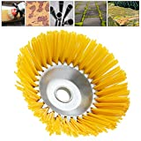 <span class='highlight'><span class='highlight'>ODOMY</span></span> 8'' Nylon Weed Brush Head Cutter with 1'' Round Hole Weeds Brush Wheel Moss and Grass Trimmer for Garden Lawn