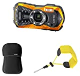 Ricoh Set wasserfest WG50 Orange + Tasche + Handschlaufe