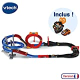 VTech - Turbo Force – Méga Circuit Super Loop + Montre Voiture, circuit voiture enfant avec voiture télécommandée et montre