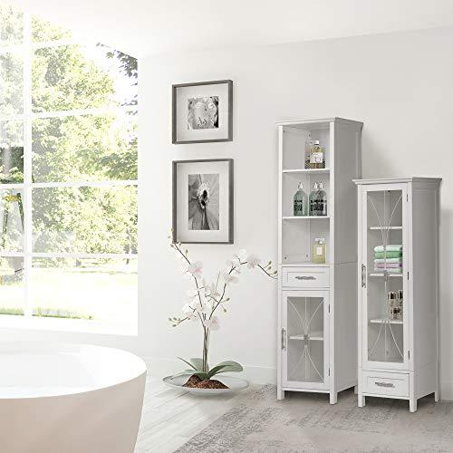 Elegant Home Fashions Delaney 65' 1-Door Linen Cabinet in White