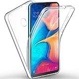AROYI Funda Compatible con Samsung Galaxy A20e, Ultra Slim Doble Cara Carcasa Protector Transparente TPU Silicona y PC Dura Resistente Anti-Arañazos Protectora Case Cover