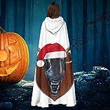 AISFGBJ Xenomorph Déguisement de vampires à capuche avec tête de cerf de Noël Unisexe