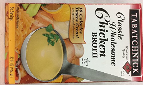 Tabatchnick Classic Wholesome Chicken Broth Kosher For Passover 32 oz. Pack of 6..