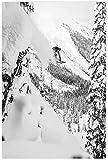 Diy 5d Diamante Pintura Kits Esquiador saliendo del acantilado Imagen Diamond Painting Completo Bordado Punto De Cruz Craft 23.6'x35.4'(60x90cm) Sin Marco