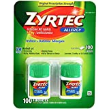 Zyrtec Prescription-Strength Allergy Medicine Tablets, 10 mg, 50 Count, Pack of 2