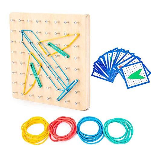Juego de Juguetes de Madera para niños y Adultos, Juguetes de Tablero de Matriz de manipulación gráfica, Juego Educativo para ejercitar el Cerebro